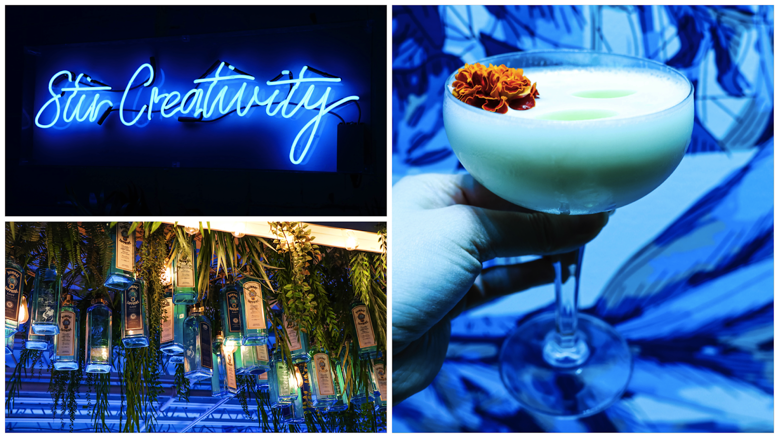 bombay sapphire gin canvas bar toronto pop-up