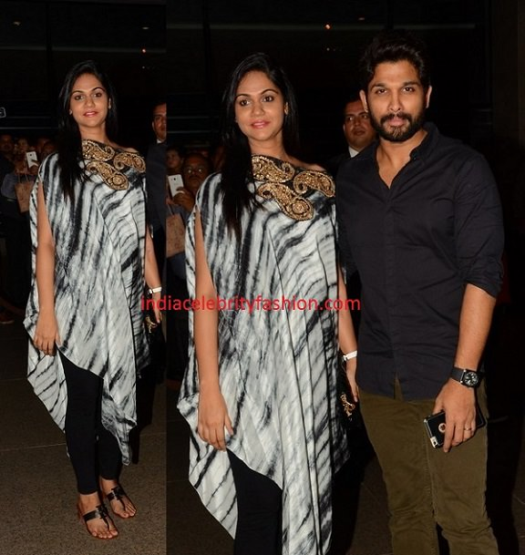 Allu Arjun and Sneha Reddy at Chiranjeevi Birthday Party