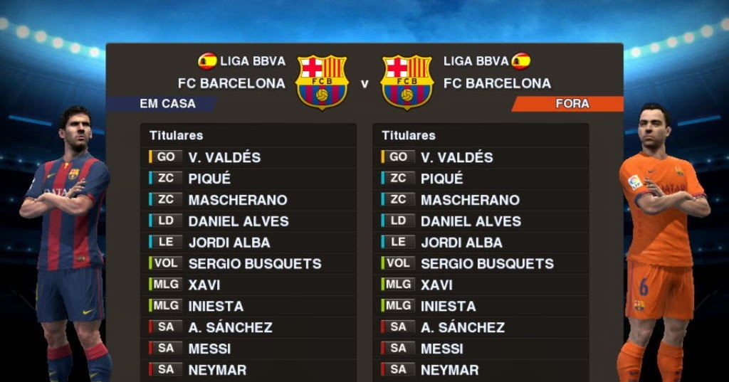 PES 2013 FC Barcelona 14-15 Kits by m4rcelo | BEST IN THE