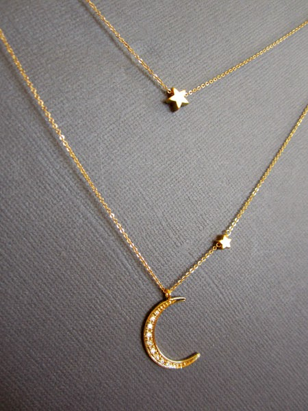 SLO & Simple: Pretty Things: Moon and Stars Necklace