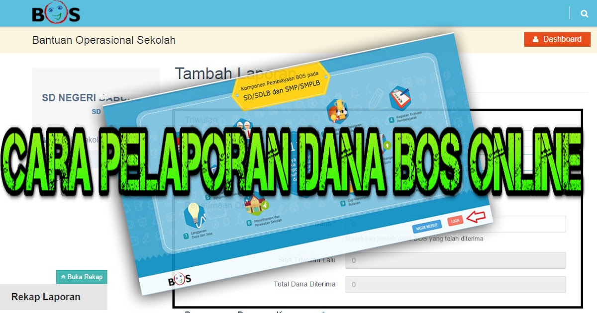 Cara Pelaporan Dana Bos Online Infoukg Com