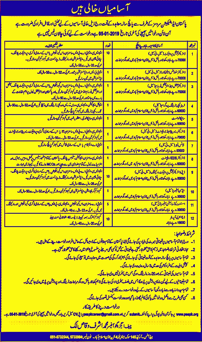 Pakistan Edification Services PES Jobs 2019 Apply Online