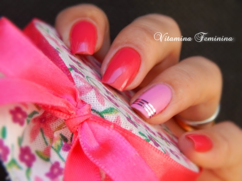 Esmaltes Nail Plus Glam Pink e Beauty Color as Máscaras