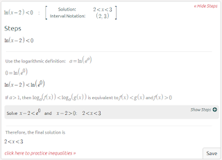 Symbolab Solving Logarithmic Equations