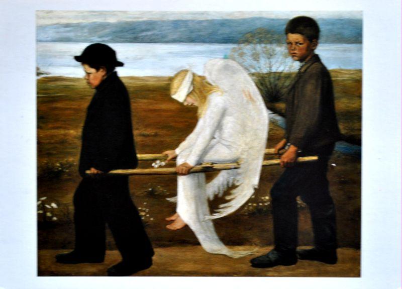 Hugo Simberg ranny anioł
