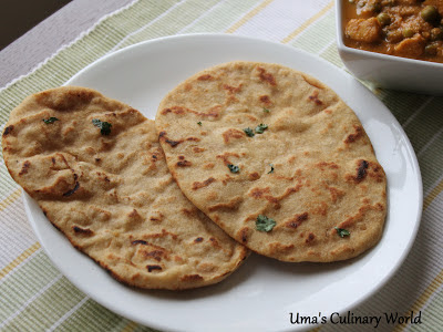 whole wheat Tawa Naan