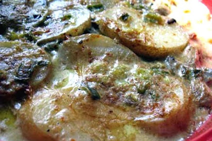 Scalloped Potatoes with Coconut Milk and Mushrooms