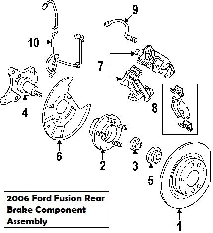 2006 Ford Taurus Rear Brake Diagram Wiring Schematic Diagram