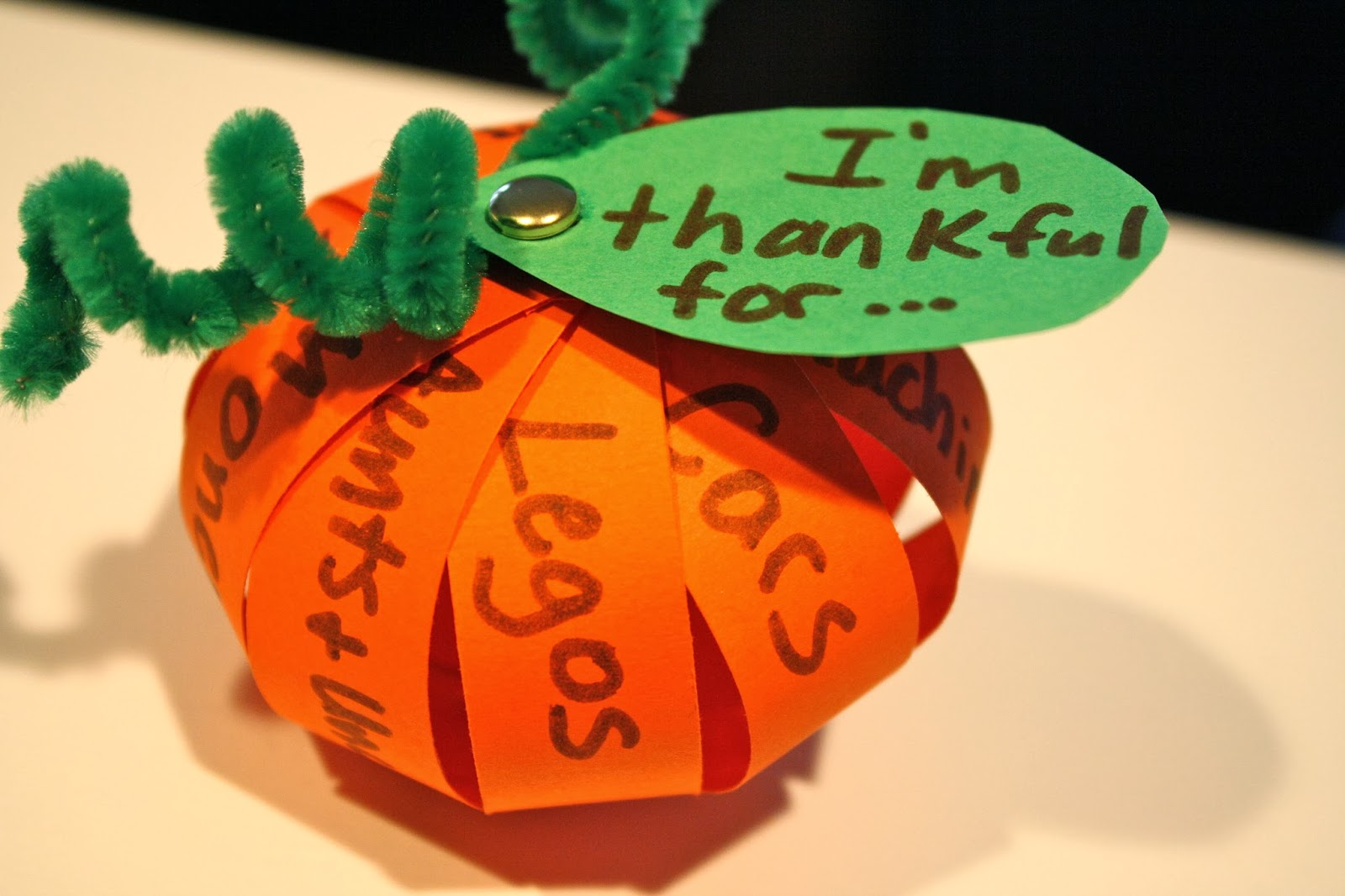 A Thankful Pumpkin Craft For Thanksgiving Catholic