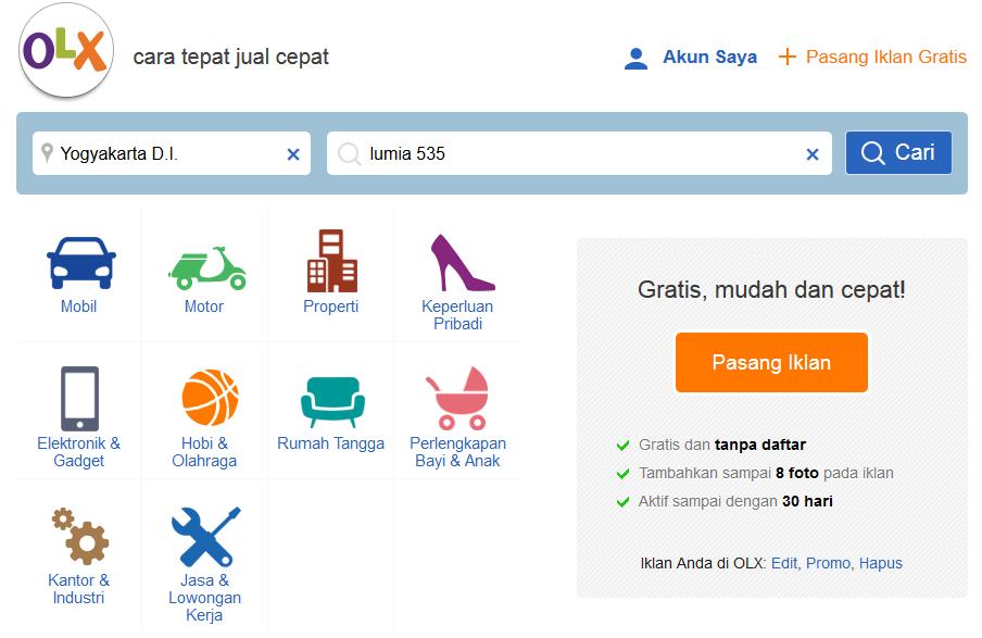 Cara Beli Barang Dan Belanja Online Di Olx Co Id Aditya Web Com