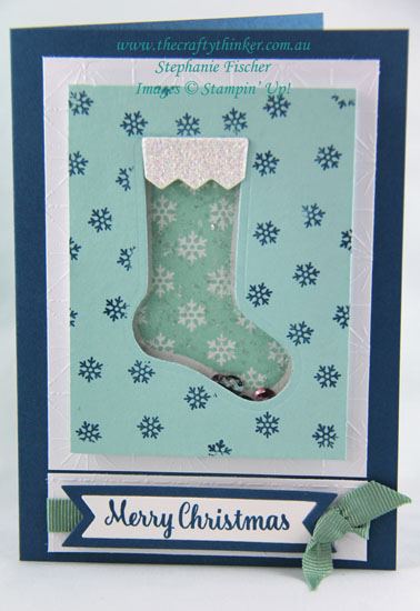 Stampin Up, Hang Your Stocking, Shaker Card, Christmas Card, Xmas card, Stampin Up Australia Demonstrator, Sydney NSW, Stephanie Fischer