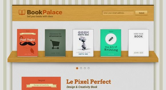 Book Palace PSD Landing Page Template