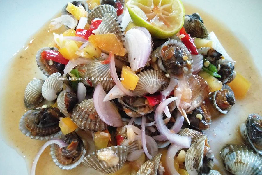 resepi kerang rebus ala thai, kerang rebus air asam, ala thai, masakan, resepi, cara memasak, kerang rebus serai,