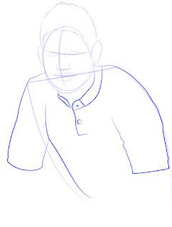 Langkah 6. Super Simpel Menggambar James Rodríguez