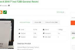Samsung Galaxy Tab A 7.0 (2016) T285 4G Tablet Spesifikasi dan Harga Juni 2018