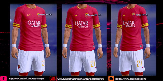 PES 2013 AS Roma 2019-2020 Home Kit Leaked