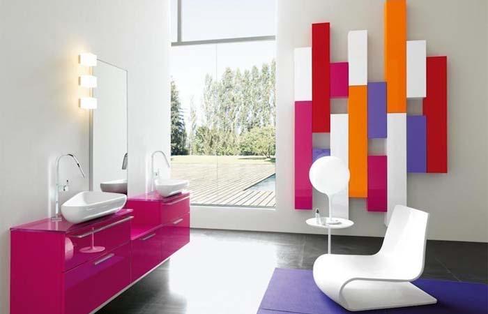 geometrik tasarım banyo dizayn