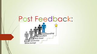 Image of the words Post Feedback with an image of people getting better