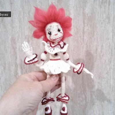 Вязаный клоун крючком