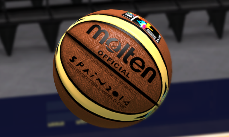 2014 FIBA Basketball World Cup Colorful Molten Ball