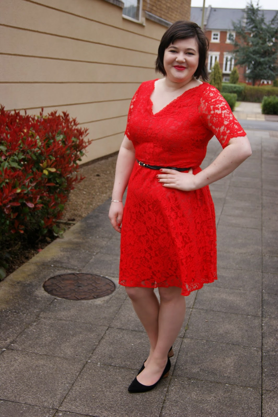 Yes Another Red Lace Dress Frills N Spills