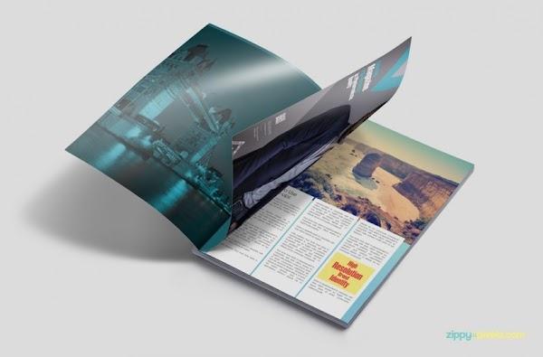 Mockup de revistas impresas en PSD gratis