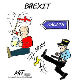 hooligans, euro 2016, campionati europei, calcio, sport, tifosi, brexit, vignetta, satira
