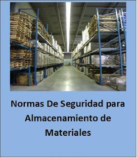 Seguridad para almacenamientos de materiales