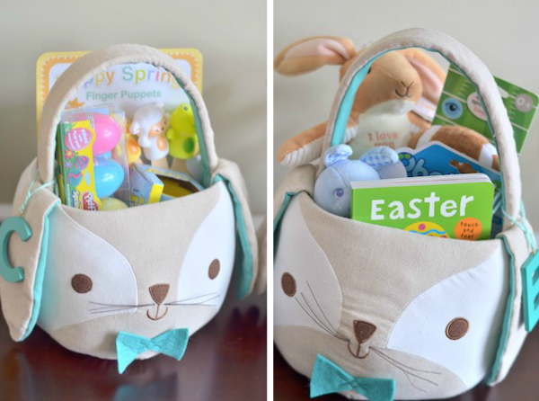 Toddler baby easter baskets lovely life styling bennetts basket was a bit trickier but i did find a few rattles a plush bunny teething ring and a touch and feel easter book that i knew he would like negle Gallery