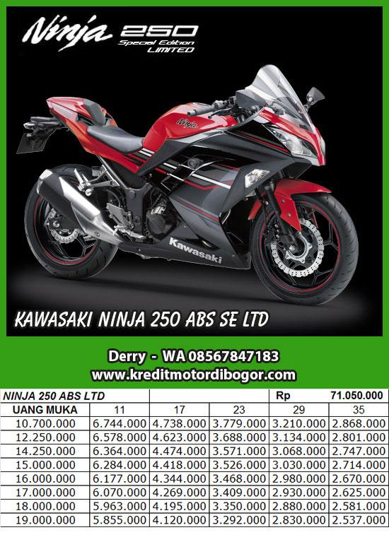 Daftar Harga Kredit Motor Kawasaki Ninja 250 SE LTD ABS di Bogor