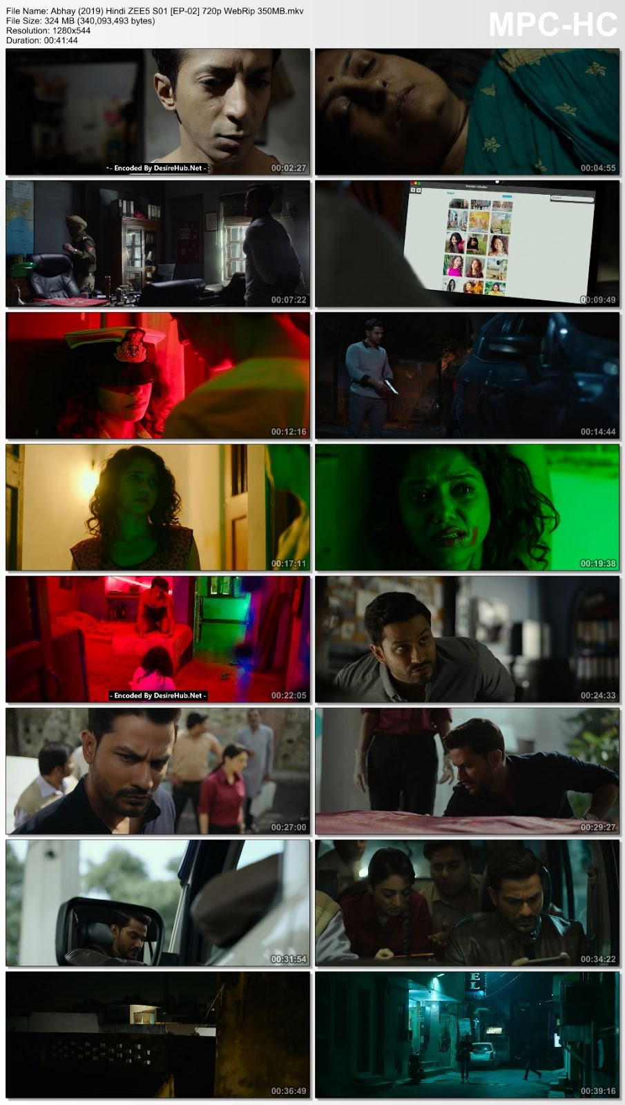 Screen Shoot of Abhay (2019) Hindi ZEE5 S01 [EP-02] 720p WebRip 350MB