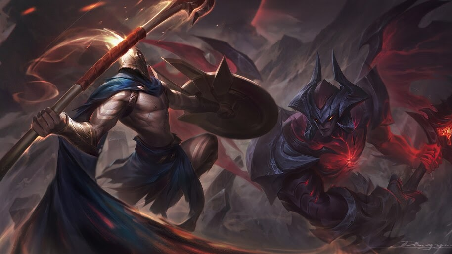Pantheon Vs Aatrox LoL 4K 5 2644 Wallpaper