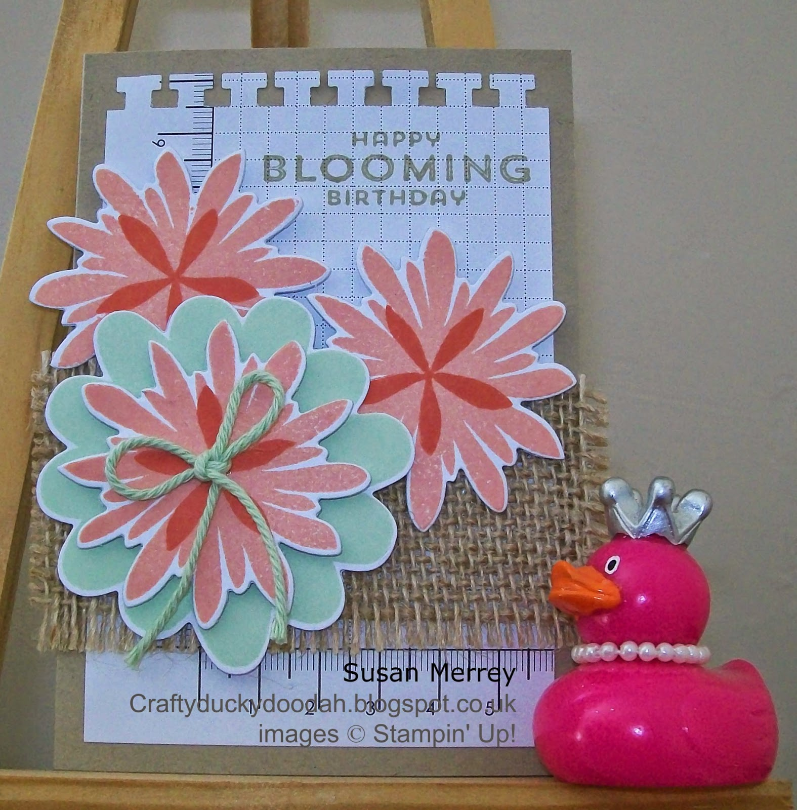 Stampin' Up!, Flower Patch, Flower Fair Framelits, Craftyduckydoodah!