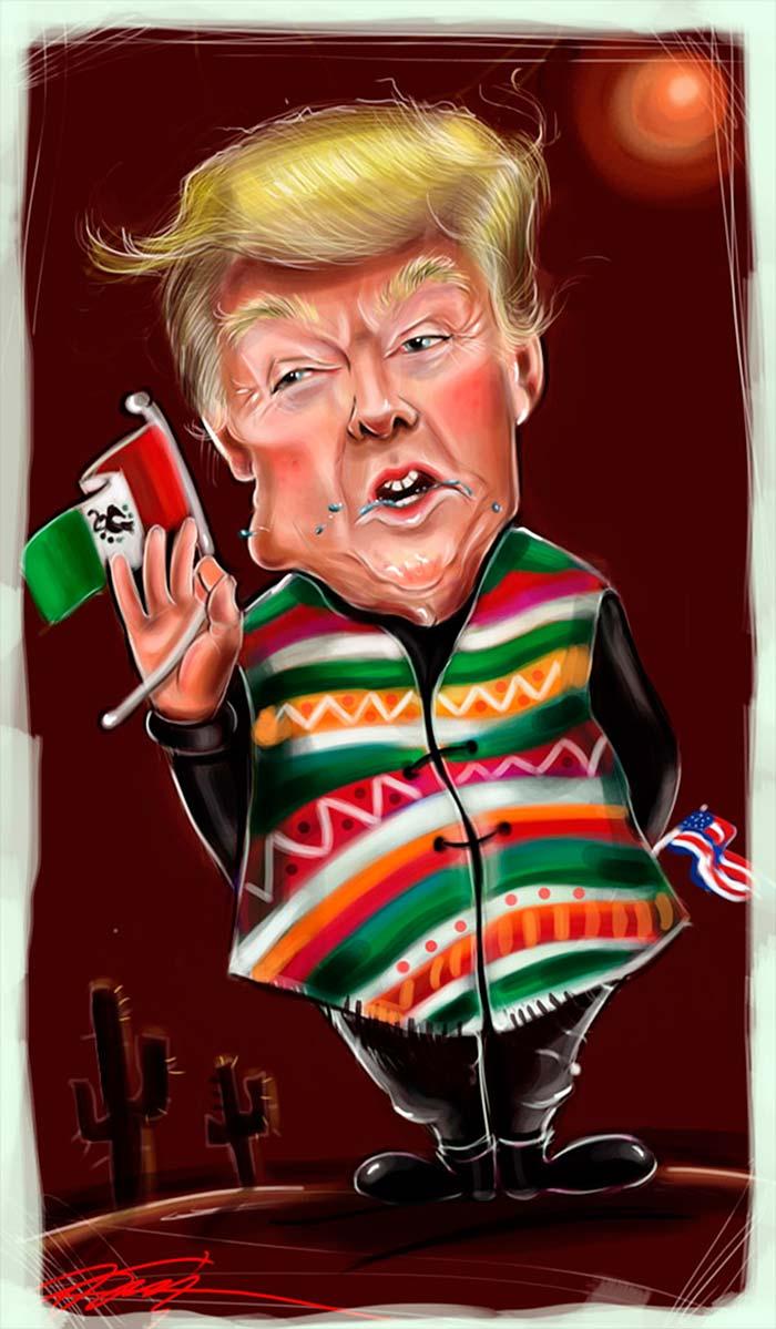Caricatura, Donald Trump de Anamaria Tudorica