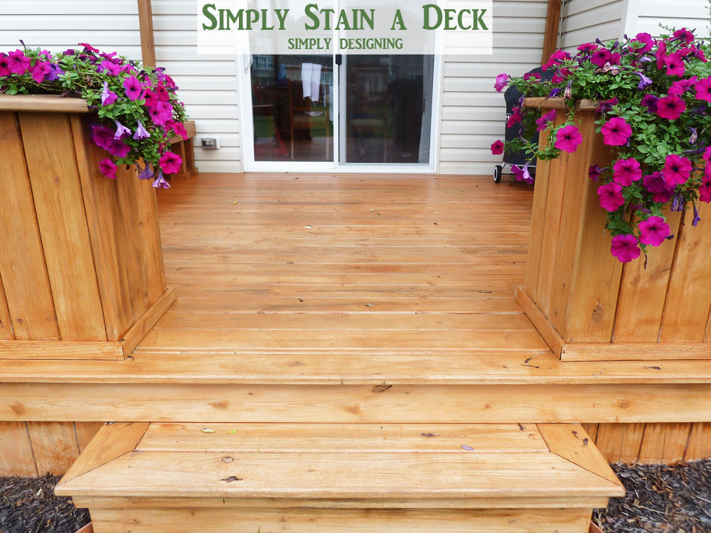 How To Stain A Deck And Pergola Diy