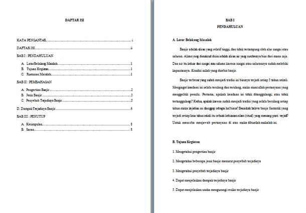 Contoh Makalah Geografi Tentang Banjir Doc Docx Format Microsoft Word Contoh Docs