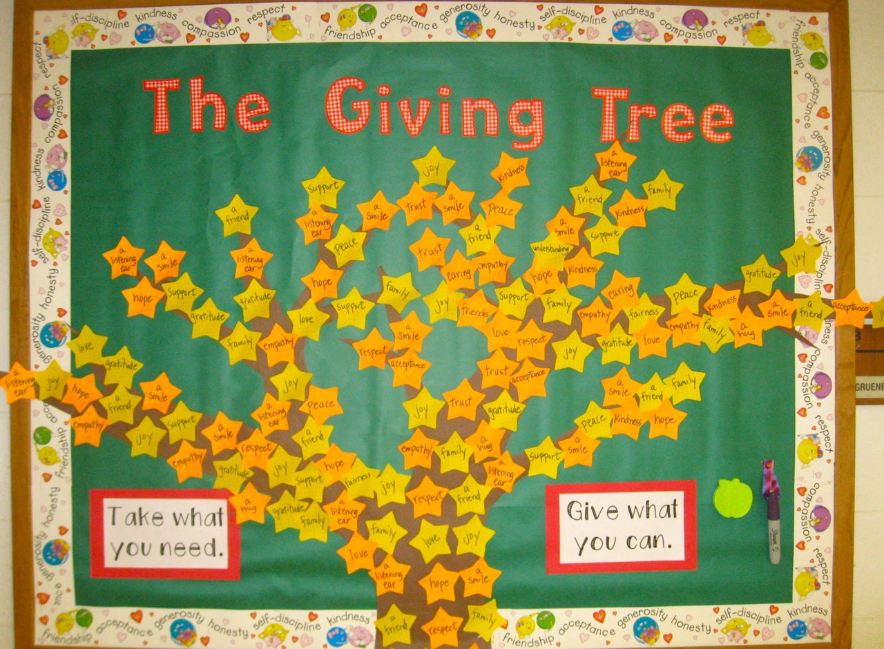 The Corner On Character The Giving Tree