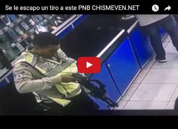 A un PNB se le escapó un tiro dentro de una tienda
