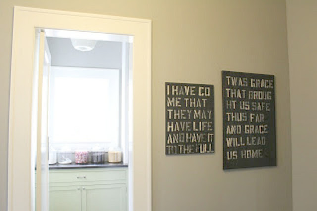 Black and white quote panels by Michele of Hello Lovely Studio