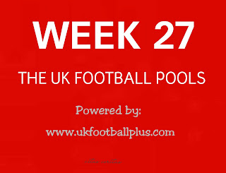 Week 27 UK football pools draws on coupon
