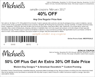 Michaels coupons for february 2017