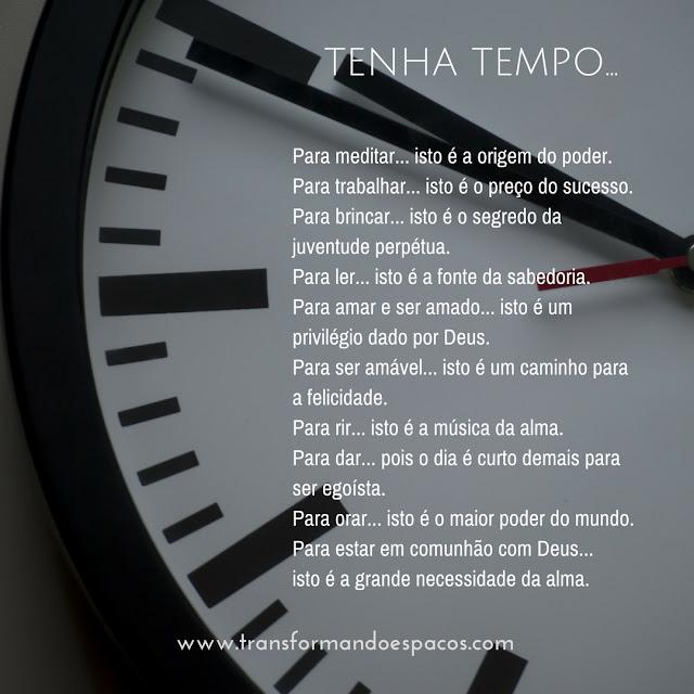 Reflexões |  Tenha Tempo