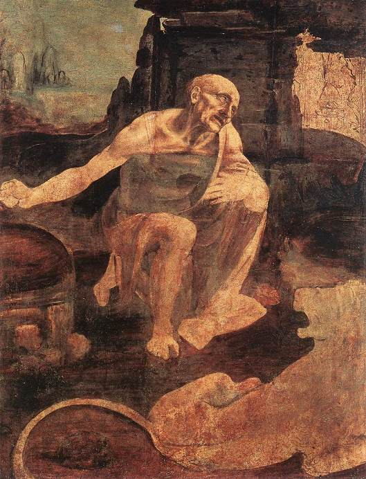 Unfinished painting of St Jerome in the Wilderness (Vatican)
