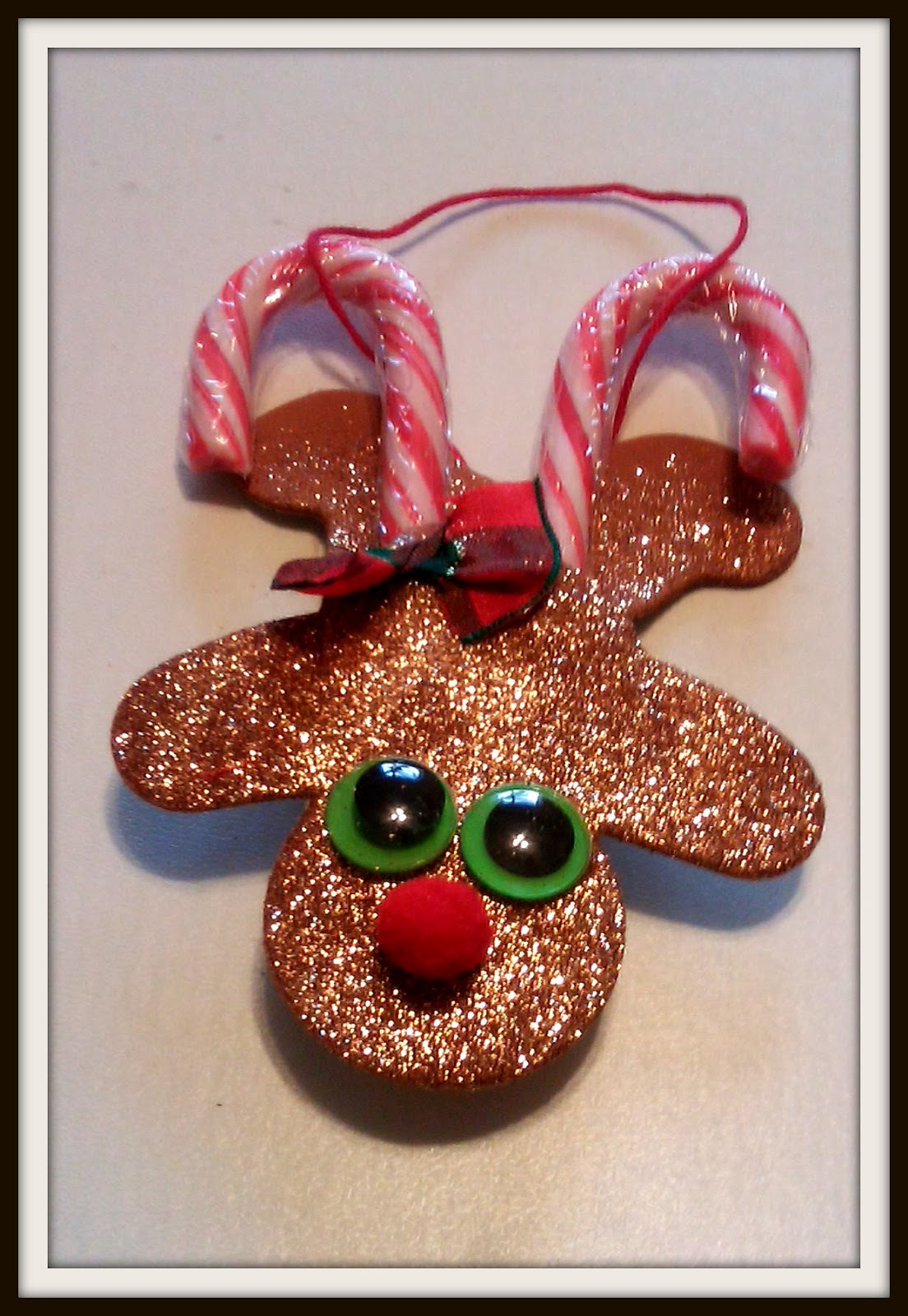 Double Treble Craft Adventures Candy Cane Reindeer