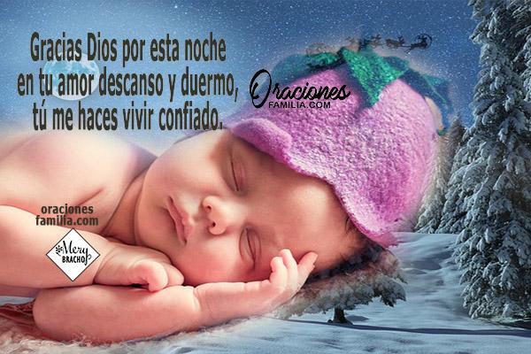 Oración para antes de dormir, Dios me cuida, frases para dormir bien, tranquilo por Mery Bracho.