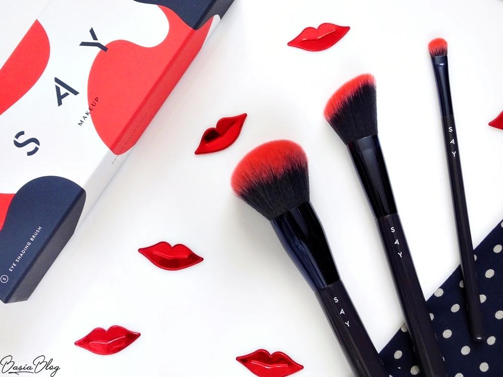 SAY Makeup, pędzle do makijażu {do pudru, do cieni, do konturowania}