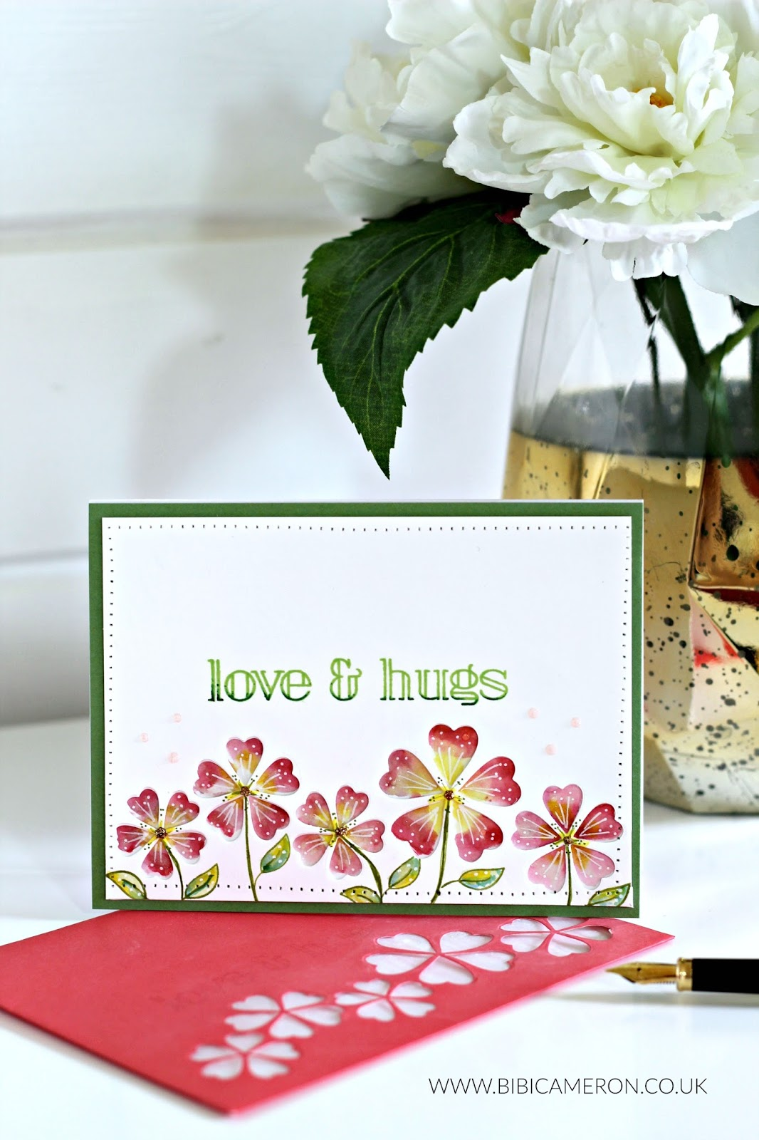 Simple Card Making Ideas Part - 48: The First Idea Is To Recreate A Colourful Floral Scene. Instead Of Randomly  Adding Colour Washes To The Card Background I Selectively Added Colour To  The ...