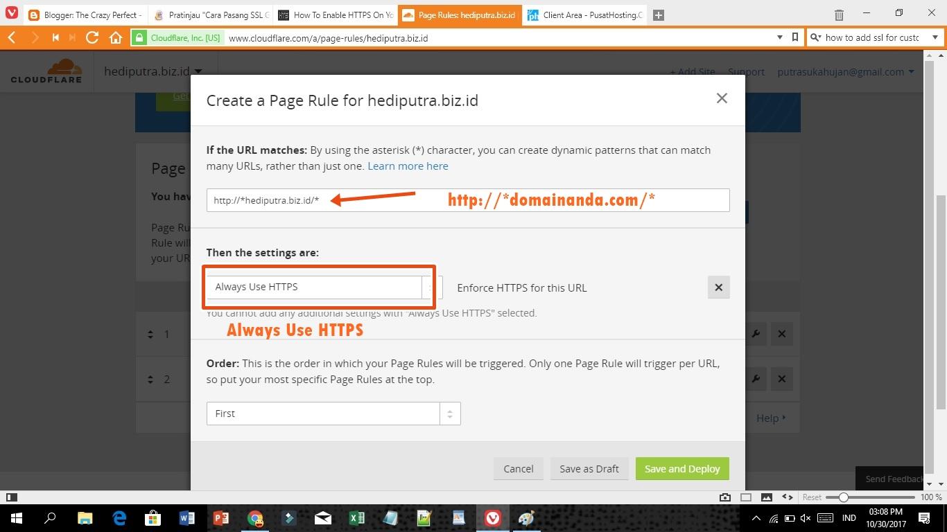 cara pasang ssl di blogspot