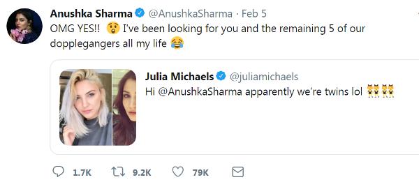 Anushka Sharma Found Her Look Alike Doppelganger Julia Michael in US   Check Who is Julia Michael?
