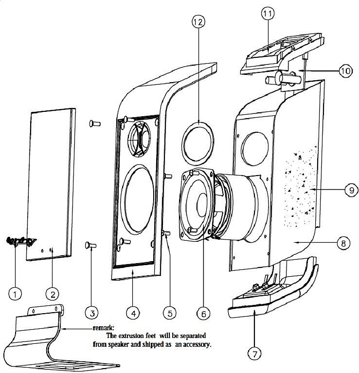 schematic speaker polarity